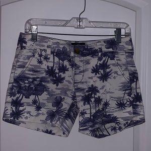 American Eagle Tropical Midi Shorts